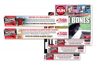 Kidde home safety ads for front page of the Toronto Sun