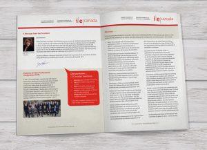 I.E. Canada brochure design