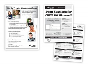 Prep101 Recruitment and Prep Session flyers