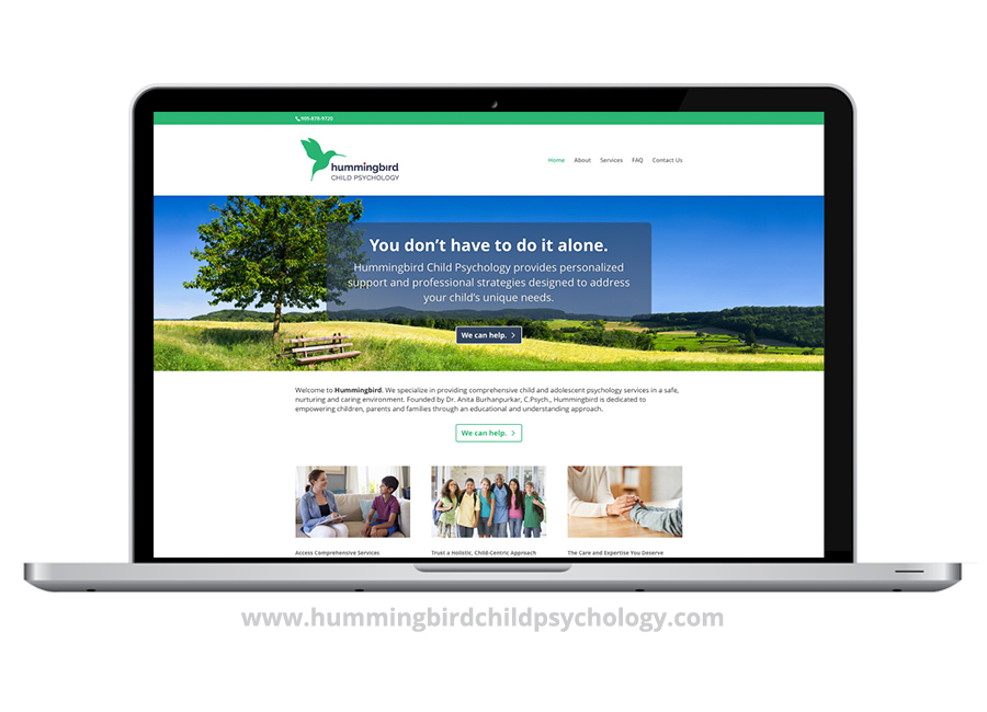 Hummingbird Child Psychology Website - Litmus Design - Graphic